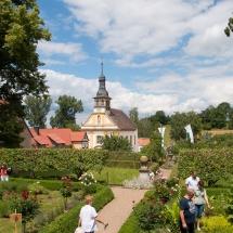 Rosengarten Schloss Oberschwappach