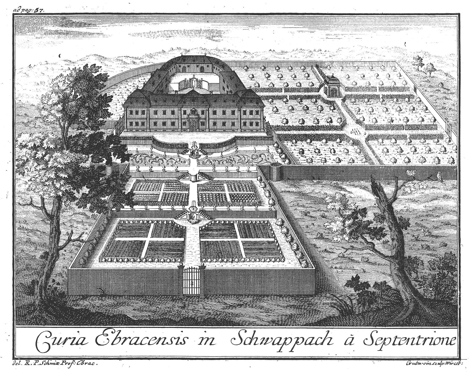 Stich Schloss Oberschwappach von Gutwein, Überarbeitet von Thomas Baumgartner, blackpoint design